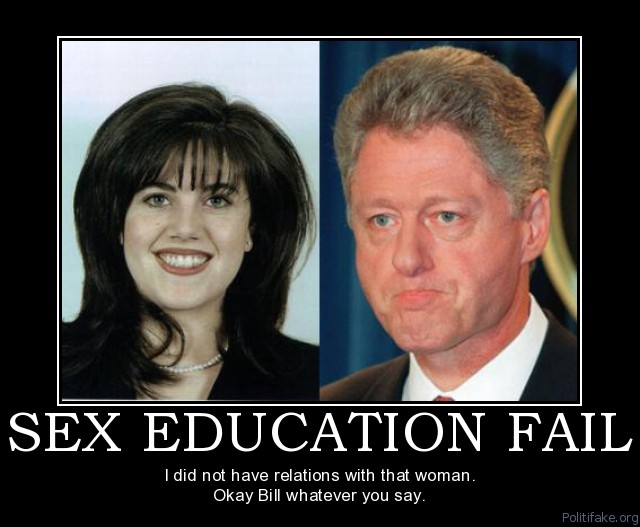 bill clinton and monica lewinsky video. we are supposed to aspire